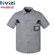 High Quality Work Clothes For Men Workwear Short Sleeve Work Shirt Full Size XS-4XLFree Shipping B230