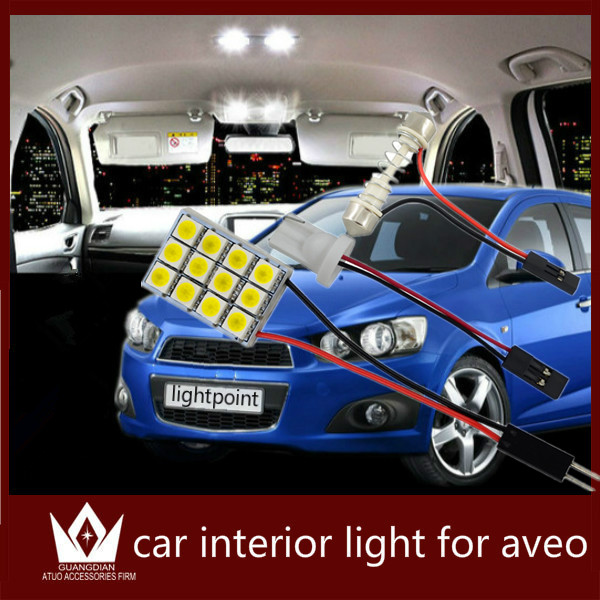 Guang Dian car led light Interior lamp Roof bulb Dome Panel Reading indoor Trunk Light accessories for aveo