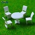 1/50 масштаб архитектура строительный песок стол модель модель мебели дизайн сцены украшения крытый восемь мест стол стул