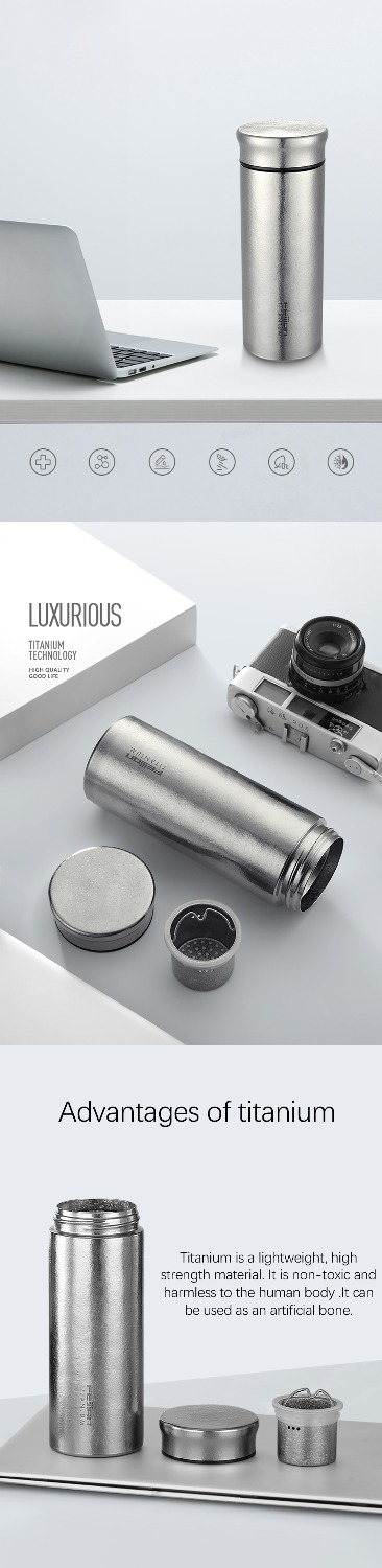 titanium thermal infuser double wall flask - novariancreations.com