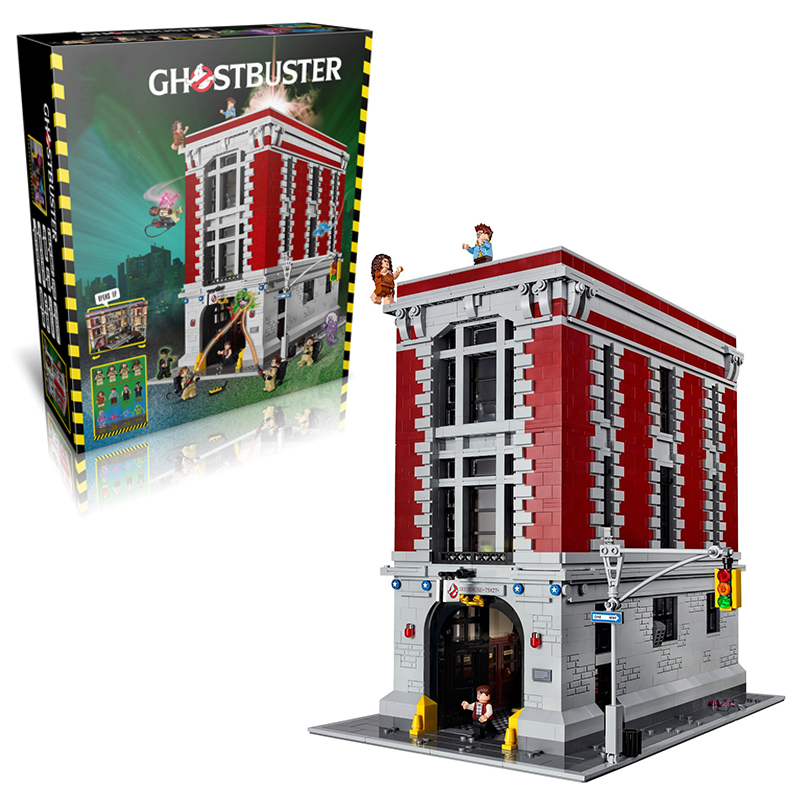 Lepin 16001 Firehouse Headquarters building bricks blocks Toys for children boys Game Model Car Gift Compatible with Bela 75827 hot sembo block compatible lepin architecture city building blocks led light bricks apple flagship store toys for children gift