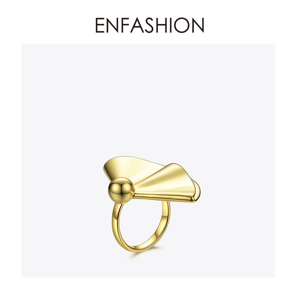 Begeistert Enfashion Drapieren Ring Gold Farbe Big Messing Engagement Damen Ringe Für Frauen Partei Geschenke Mode Schmuck Ringen Anelli Rf184004