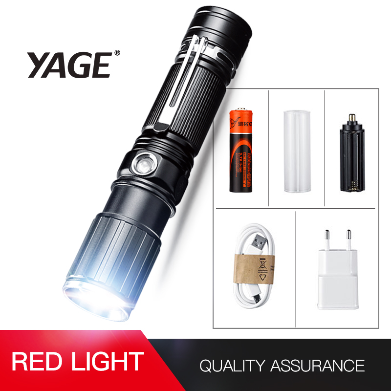 YAGE Flashlight xml t6 Aluminum Zoom CREE LED 18650 White/Red Flashlight USB Torch Light with 18650/4*AAA/1*26650 Battery 342 sitemap 342 xml