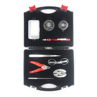 Newest THC Mundo Tool Kit Vape Complete kit 9 in 1 tool kit Jig Tweezers Wire Pliers for E Cigarette vs coil father tool kit