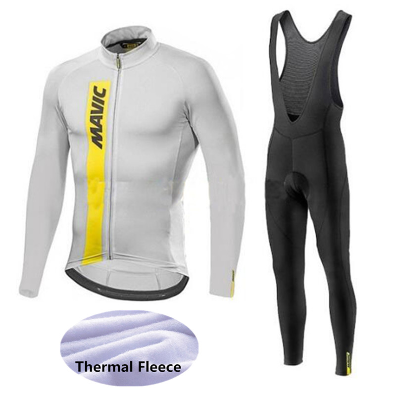 Mavic Cycling Jerseys Cycling Set Winter Thermal Fleece Long Sleeves Racing MTB Suit Maillot Bike Clothing Ropa Ciclismo S16 cycling clothing rushed mtb mavic 2017 bike jerseys men for graffiti cycling polyester breathable bicycle new multicolor s 6xl