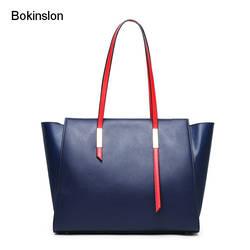 Bokinslon женские сумки на плечо винтажные женские сумки из спилка элегантные сумки большой емкости женские модные сумки через плечо