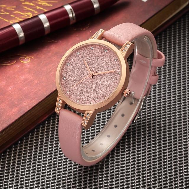 6ba13ce4333 2018 RENASCIMENTO Moda relógio das mulheres Strass relógio de quartzo  relogio feminino as meninas das mulheres