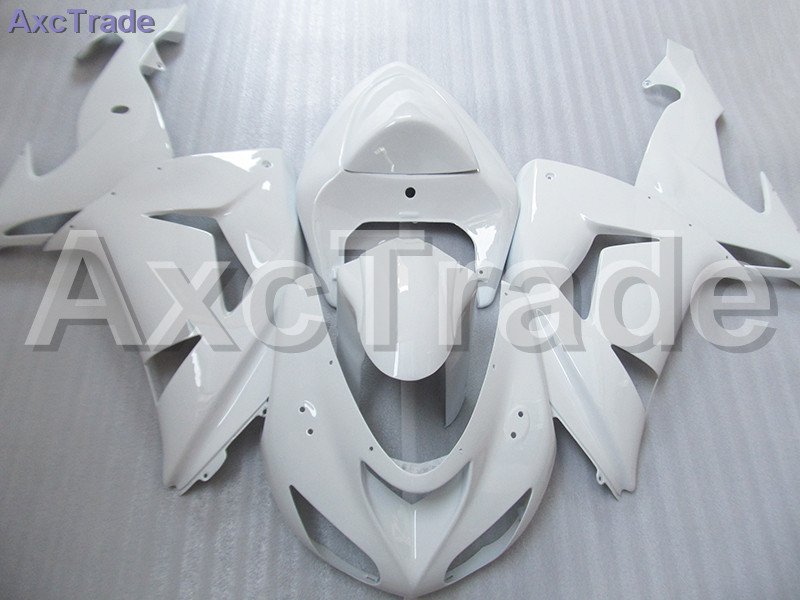 High Quality ABS Plastic For Kawasaki Ninja ZX10R ZX-10R 2006 2007 06 07 Moto Custom Made Motorcycle Fairing Kit Bodywork White black moto fairing kit for kawasaki ninja zx14r zx 14r zz r1400 zzr1400 2006 2007 2008 2009 2010 2011 fairings custom made c549