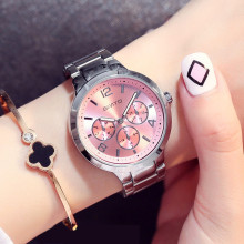 GIMTO Luxury Brand Fashion Quartz Watch Women Ladies Stainless Steel Bracelet Watches Casual Clock Female Dress Relogio 2017