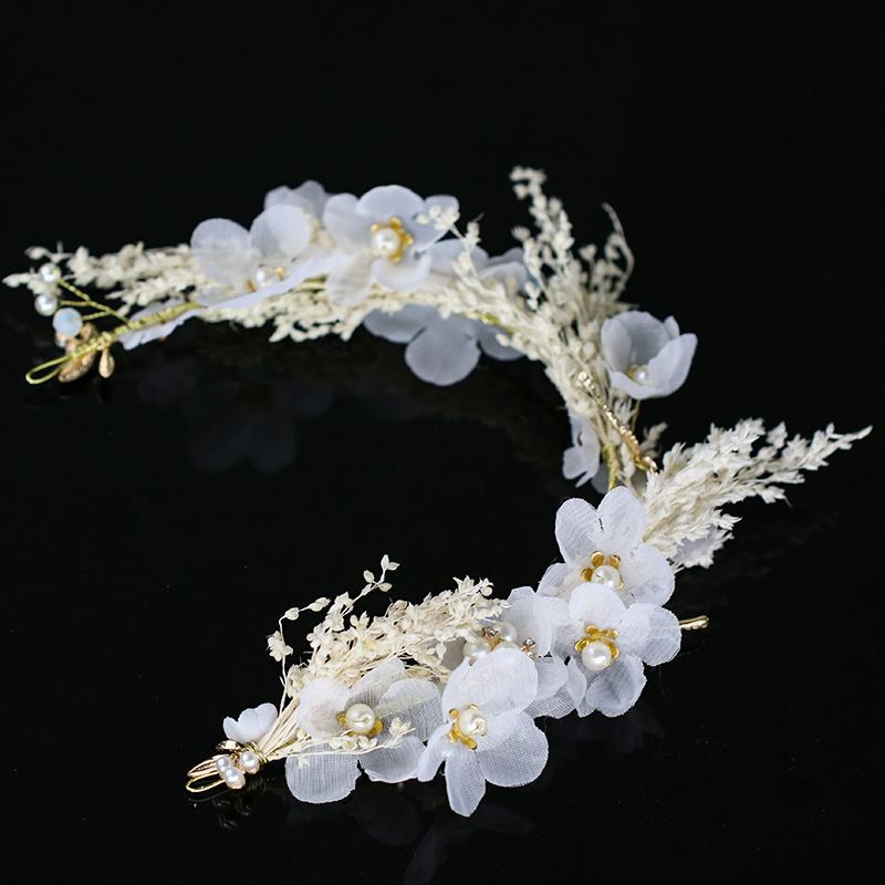 1pcs new women girl white flower crown hay new wedding bridal 1pcs new women girl white flower crown hay new wedding bridal artificial flower headband tiara hair floral hair band lb in hair accessories from womens mightylinksfo