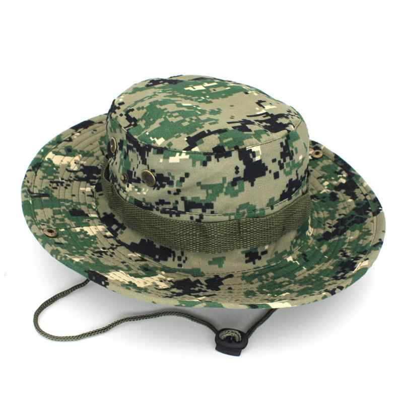 bb9c8c99a1b Outdoor Bucket Hats Mens Jungle Military Camouflage Bob Camo Hat Camping  Barbecue Cotton Mountain Climbing Fishing