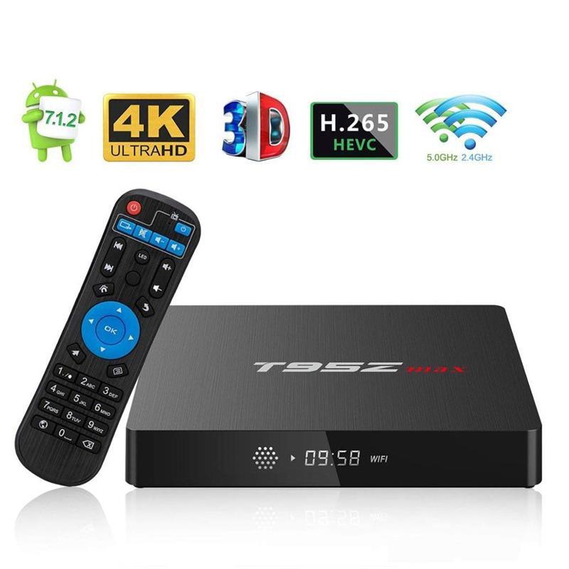 T95Z MAX Android 8.1 Amlogic S912 STB tv box 2GB 16GB 3GB 32GB eMMC Flash player 17.6 6K Smart Android TV Box VS tx3 MXQ Pro