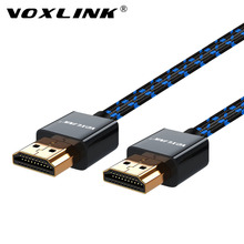 VOXLINK 4K*2K HDMI Cable for TV laptop projector High Speed Premium V1.4 1080P 3D HDMI to HDMI Cables 1M/1.5M/1.8M/3M аксессуар rexant hdmi hdmi 17 6805