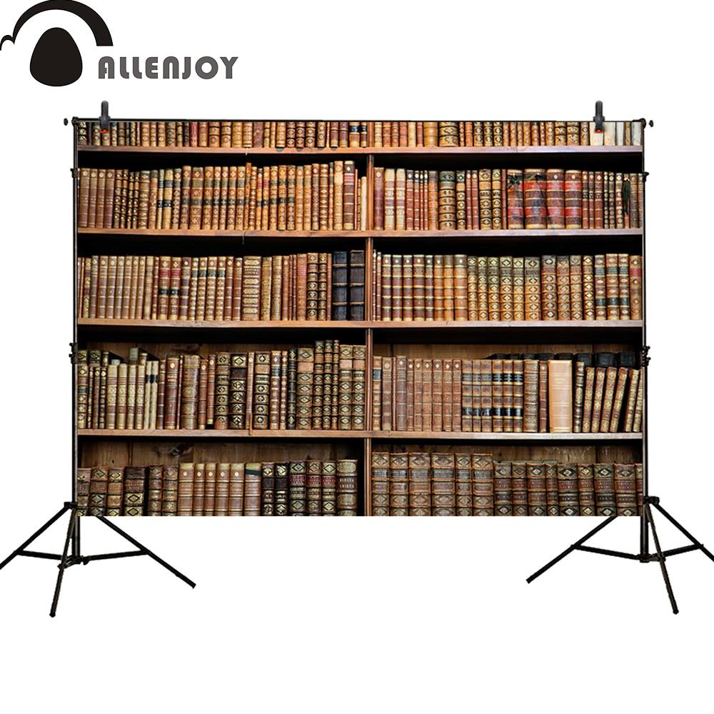 Allenjoy photography backdrops school study kids bookshelf background newborn baby shower photocall