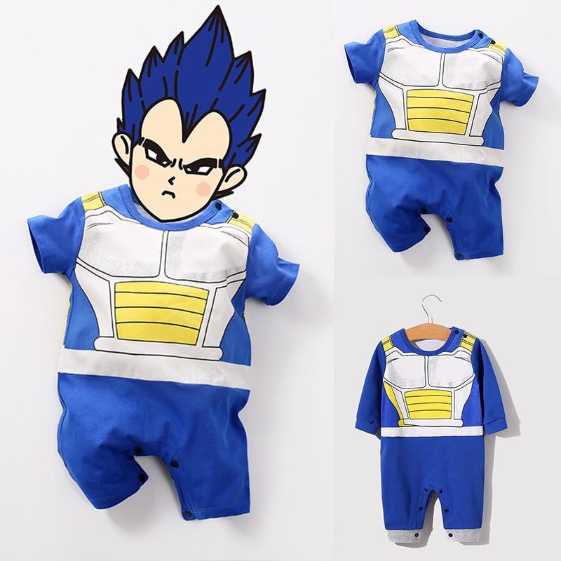 Baby Toddler Dragon Ball Vegeta Jumpsuit Boy Girl Romper Kids Bodysuit Cosplay