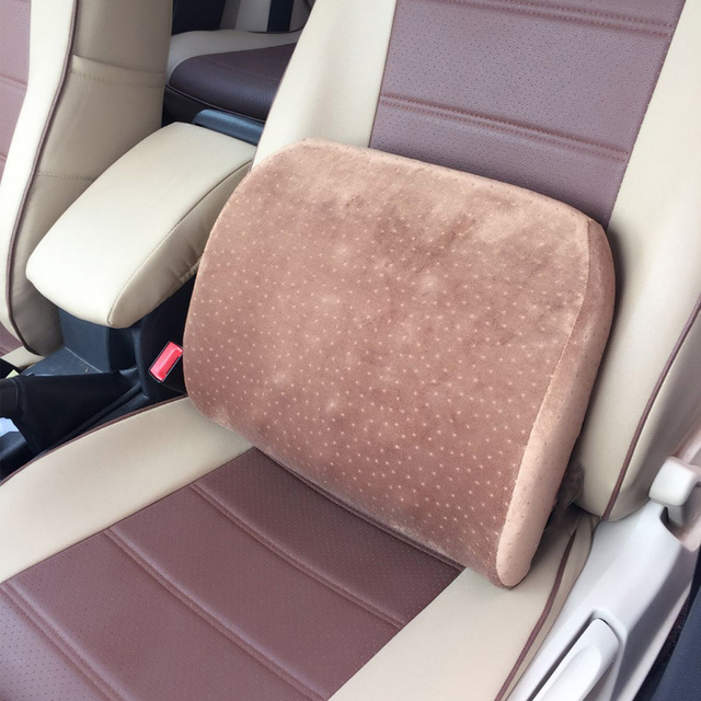 Memory Foam Car Seat Lumbar Cushion Massage Back Waist Support Multi Purpose Pillow