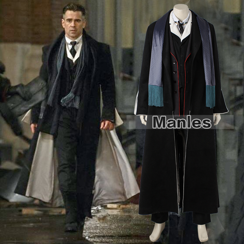 Percival Graves Costume Fantastic Beasts And Where To Find Them Cosplay Suit Carnival Outfit Adult Men Halloween Custom Full Set