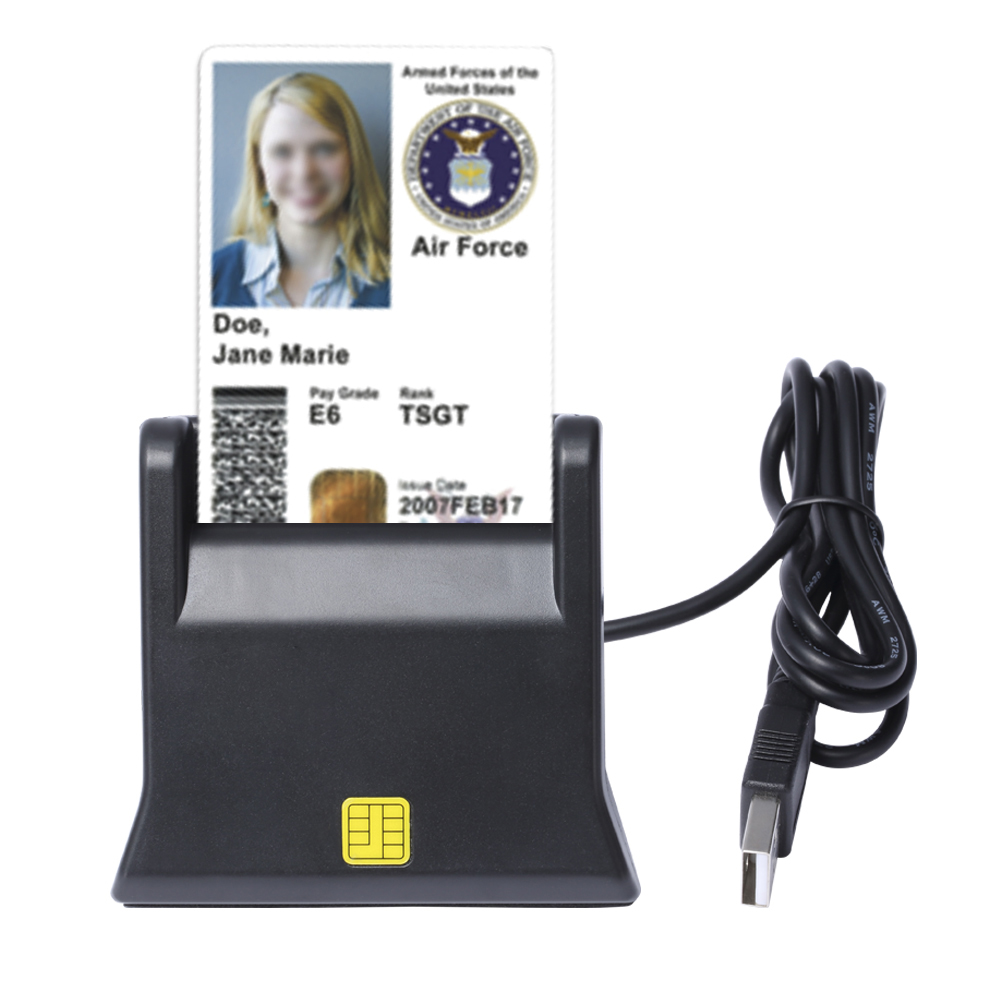 ZW-12026-3 EMV USB Smart Card Reader Writer DOD Military USB Common Access CAC Smart Card Reader ISO7816 For SIM /ATM/IC/ID Card ic usb reader 13 56mhz usb ic reader for user enrollment mf m1 card enroller page 2