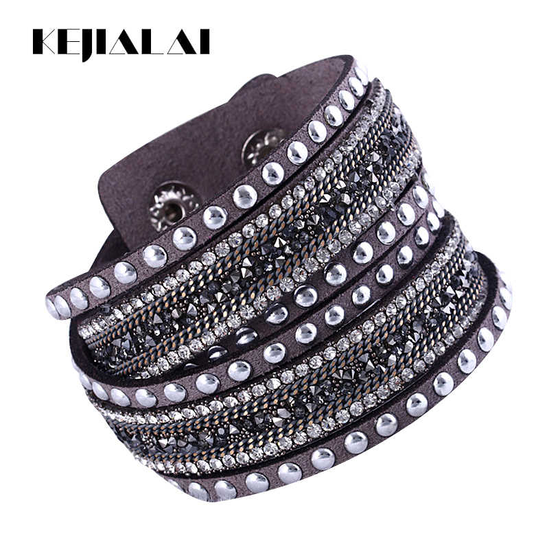 Kejialai Women New Bracelet Charm Vintage Wrap Bracelet Wrist Flannelette Hot Wholesale Simulated Bracelet Fashion KJL034
