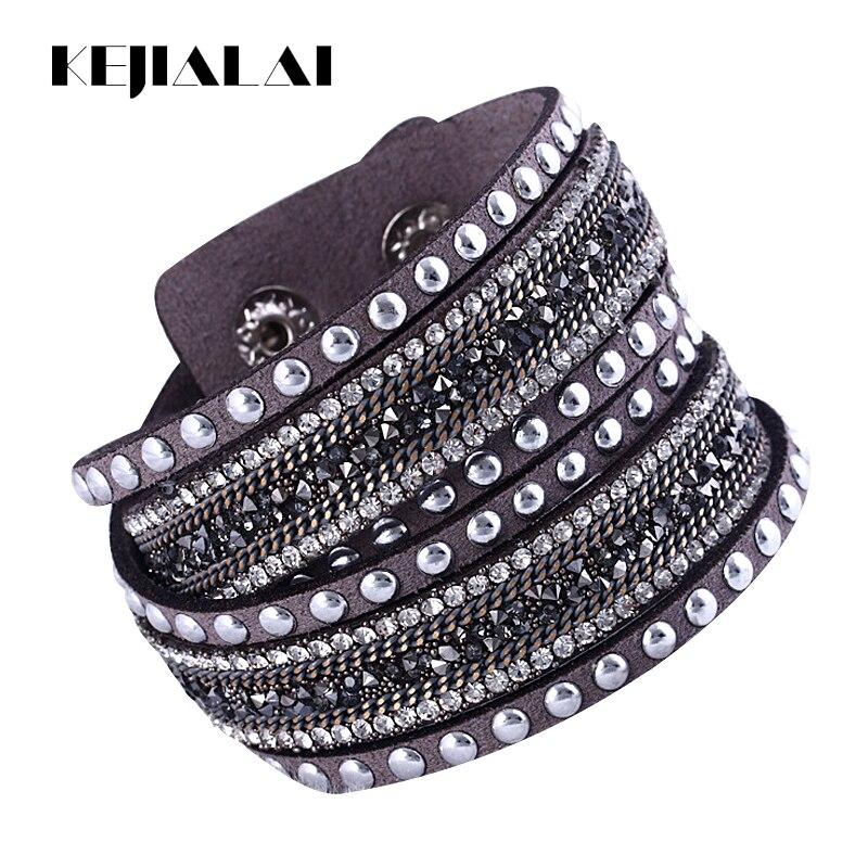 Kejialai Women New Bracelet Charm Vintage Wrap Bracelet Wrist Flannelette Hot Wholesale Simulated Bracelet Fashion KJL034