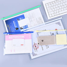 Waterproof A3 Transparent PVC Bag Zipper Bag A5/A4 Document Bag Clear File Bag