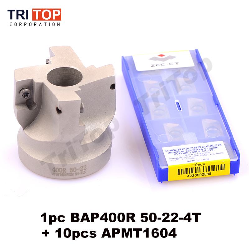 BAP JAP 400R-50-22-4T Milling tool with 10pcs milling insert APMT1604 Face Mill Shoulder Cutter BAP 400R 50-22-4T APMT1604PDER precision m16 bt40 400r 63 22 face endmill and 10pcs apmt1604 carbide insert new