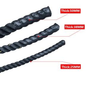 Image 3 - 2.8m x 25mm Heavy Jump Rope Crossfit Ponderata Battaglia Corde Per Saltare Power Training Migliorare La Forza Per Il Fitness Palestra di Casa attrezzature