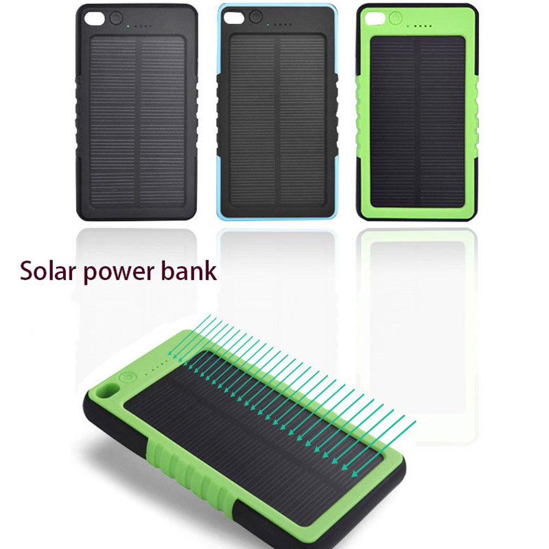 Tollcuudda impermeable banco de la energía solar 8000 mah 2 usb cargador batería