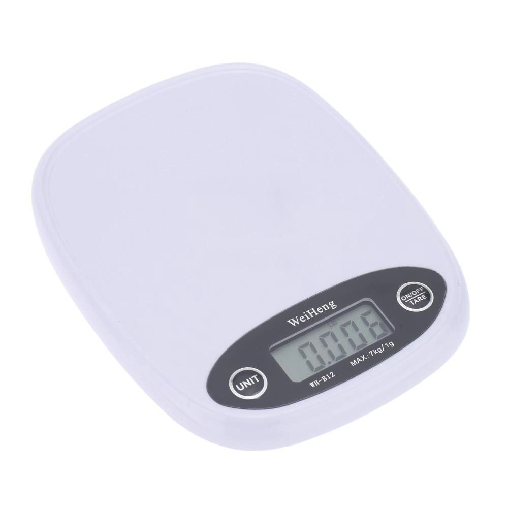 WeiHeng 7kg/1g Electronic Balance Digital Pocket Kitchen Food Weight Scale White  цены
