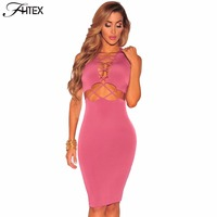 Sexy Club Dress New Fashion Women Brief Sexy Hollow Out Sleeveless Summer Casual Party Prom Celebrity