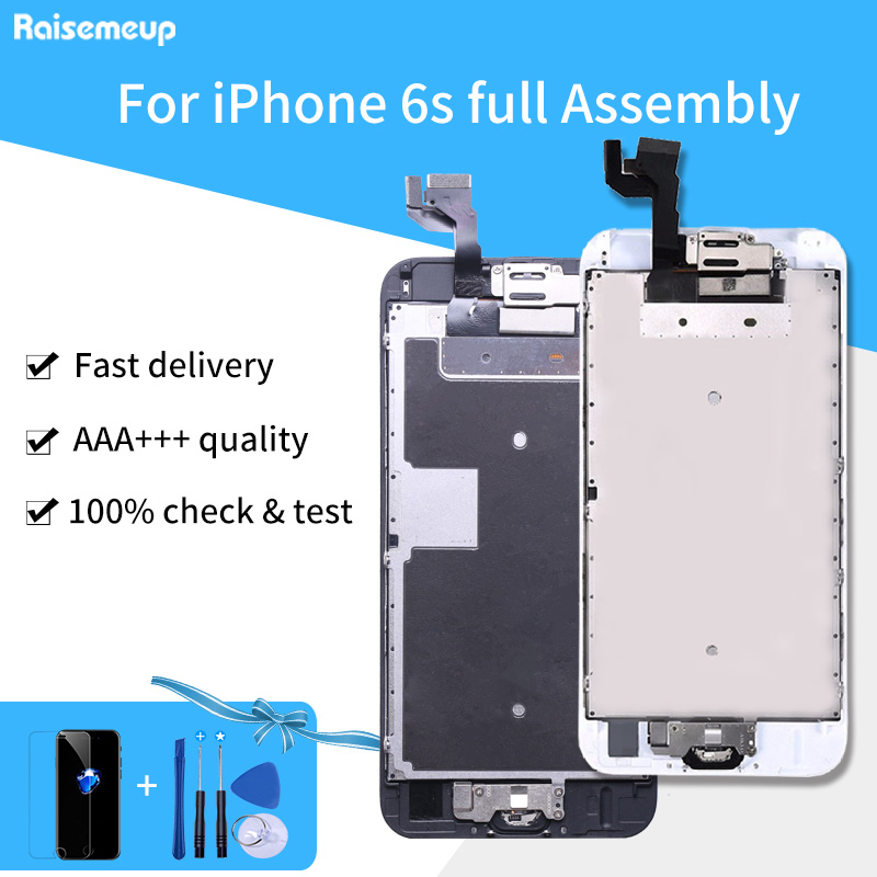 LCD For iPhone 6S LCD Screen With 3D Touch Digitizer Display full set Assembly Replacement No Dead Pixel Tempered film+Tools image