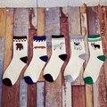 1 par de inverno mulheres happy socks 3d ocasional bonito da peúga do tornozelo mulher moda low cut whtie curto meias para mulheres chaussette