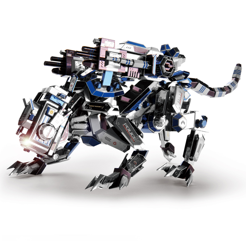 2018 Microworld mécanique Police chien modèle bricolage laser découpe puzzle combattant modèle 3D métal Puzzle jouets pour adultes cadeaux