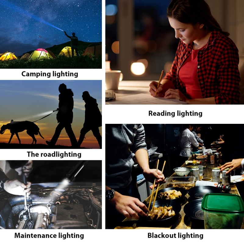 Image 5 - 1000 Lumens Mini Portable lanterns Working Inspection Torches COB LED Multifunction Maintenance flashlight Magnetic Base-in LED Flashlights from Lights & Lighting