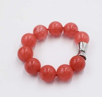 Red Watermelon Stone 14 20mm Round 8inch Unique Style FPPJ Bracelet Wholesale Beads Nature