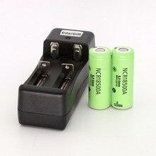 2 шт. 18500 Батарея новый оригинальный NCR18500A 2000 мАч литий-ионный Перезаряжаемые для panasonic 3,6 В с зарядным устройством