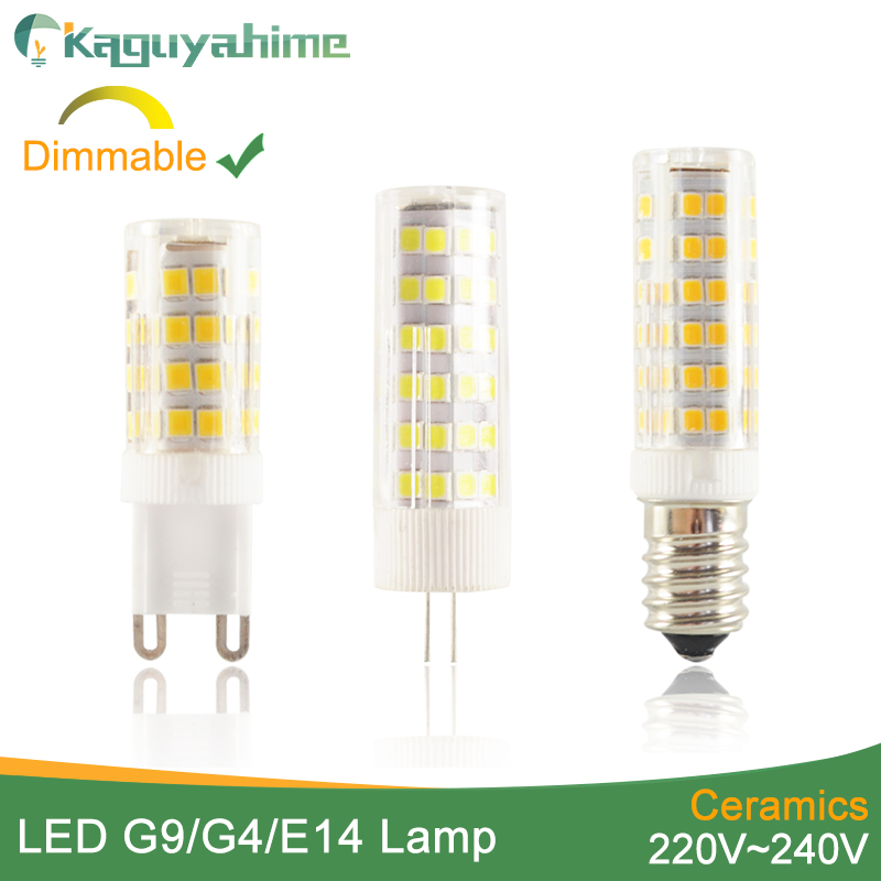 Kaguyahime Ceramic Dimmable Mini LED G9 Light G4 Led Lamp E14 Bulb 220V 12V LED Bulb G9 3W 5W 6W 7W 9W 10W 12W COB SMD 2835 2508