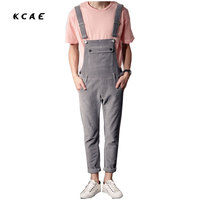 2016 New Men S Clothing Pink Corduroy Fabric Slim Leg Straps Siamese Slacks Bib Pants Jumpsuit