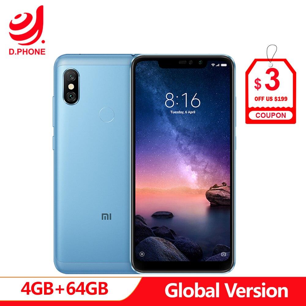Global Versão Xiaomi Redmi Nota 64 6 Pro 4 GB de RAM GB ROM Snapdragon 636 Núcleo octa 6.26