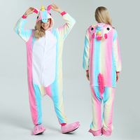 Onesie Halloween Wholesale Animal Stitch Rainbow Unicorn Onesie Adult Unisex Cosplay Costume Pajamas Sleepwear For Men