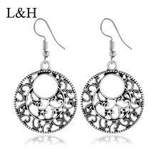 Fashion Vintage Long Statement Earrings Antique Sliver Color Drop Charm Geometric Dangle For Women Jewelry