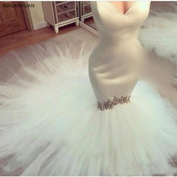 Mermaid Wedding Dresses 2020 Sweetheart Crystals Chapel Train Custom Made Garden Plus Size Country Bridal Gowns