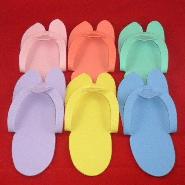 861f95595 24 Pair Disposable Slippers For Pedicure Salon Foot Spas Soft Flip Flop  Foam Slipper Multi Color Beauty Nail Suplement