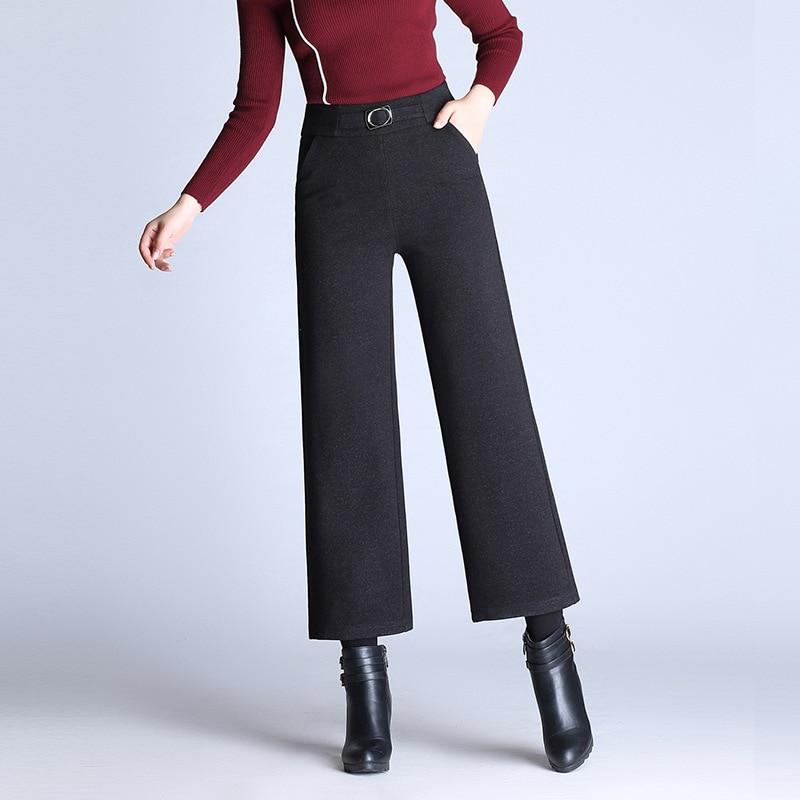 0afa4b56835 S-9XL-Femmes-D-hiver-De-Laine-Large-Jambe-Pantalon-Noir-Chaud-Taille-Haute -Casual-Pantalon.jpg