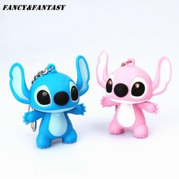 Fancy&Fantasy 1PC Stitch Led Keychain Women Men Cute Flashligh with Sound Key Chain Anime Figure Ring Birthday Gifts Unisex - discount item  41% OFF Fashion Jewelry