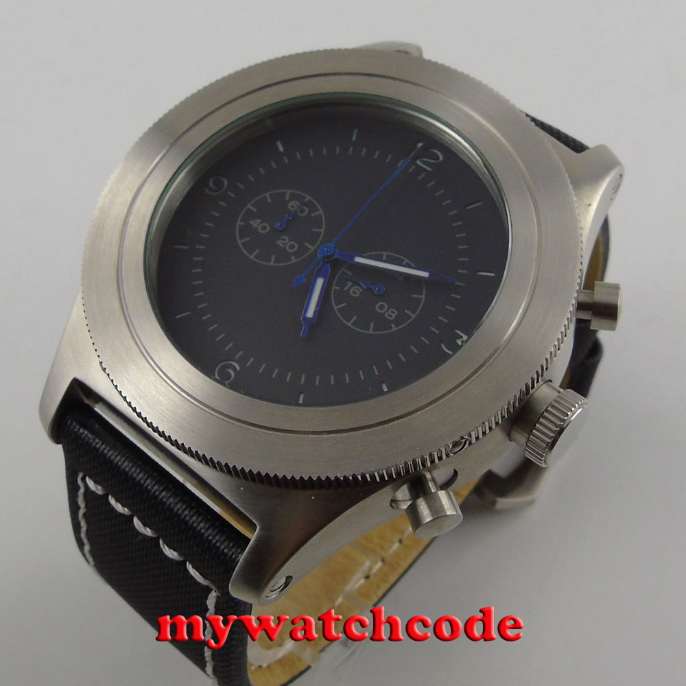luxury brand big face heavy 52mm parnis black dial big face s