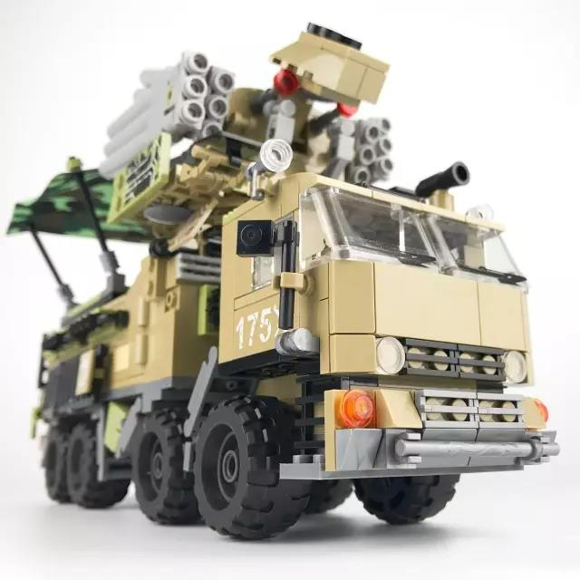 DIY Building Block Set Compatible Lepins Military Truck Transport Vehicle 3D Construction Brick Educational Hobbies Toy for Kid sluban chinese military building block set compatible with lego aircraft carrier liaoning construction educational hobbies toys
