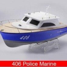 406 полицейская морская/v-образная Стекловолоконная электрическая бесщеточная RC лодка с 3650 мотором+ 70A ESC