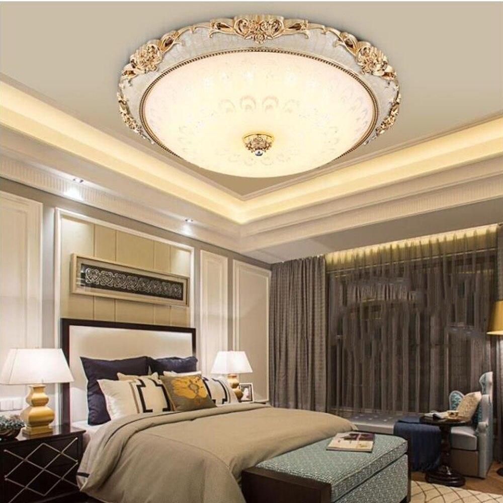 modern ceiling light led 110v 220v round glass resin