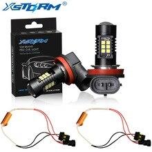 2Pcs H8 H11 Led Bulb HB4 Led 9006 HB3 9005 Fog Lights Canbus No Error 1200LM 6000K 12V White DRL Daytime Running Car Lamp Auto